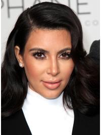 Gentle Black Wavy Long Kim Kardashian Wigs