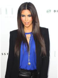Faddish Brown Straight Long Kim Kardashian Wigs