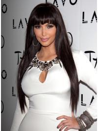 Lace Front Brown Straight Glamorous Kim Kardashian Wigs