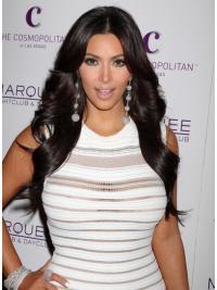 Incredible Black Wavy Long Kim Kardashian Wigs