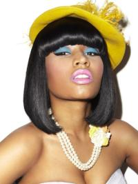 Online Black Straight Shoulder Length Nicki Minaj Wigs