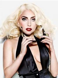 Lace Front Blonde Curly Fashion Lady Gaga Wigs