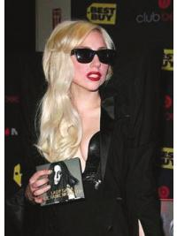Flexibility Blonde Wavy Long Lady Gaga Wigs