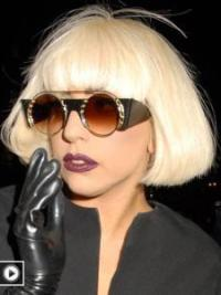 Affordable Blonde Straight Chin Length Lady Gaga Wigs