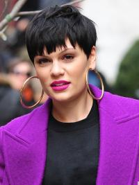 Cheap Black Straight Cropped Jessie J Wigs
