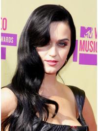 Sassy Black Wavy Long Katy Perry Wigs
