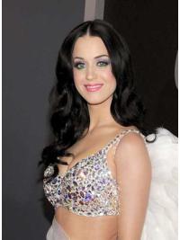 Sleek Black Wavy Long Katy Perry Wigs