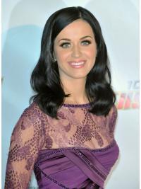 Soft Black Wavy Shoulder Length Katy Perry Wigs