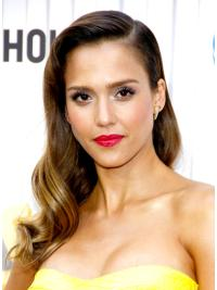 Cool Brown Wavy Long Jessica Alba Wigs