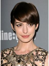 Lace Front Brown Straight Mature Anne Hathaway Wigs