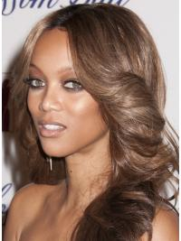Lace Front Brown Wavy No-fuss Tyra Banks Wigs