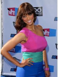 Natural Auburn Wavy Shoulder Length Tyra Banks Wigs