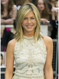 Ideal Blonde Straight Shoulder Length Jennifer Aniston Wigs