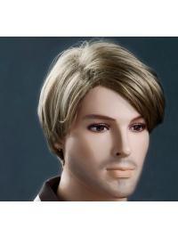 Blonde Soft Short 11 Inch Men Wigs