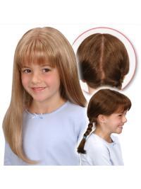 Monofilament Blonde Straight Beautiful Kids Wigs