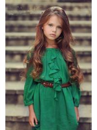 Fashionable Auburn Wavy Long Kids Wigs