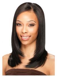 Incredible Black Straight Shoulder Length U Part Wigs