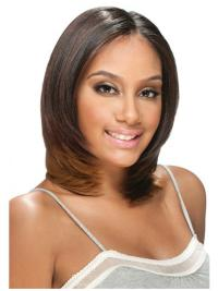 Braw Brown Straight Shoulder Length U Part Wigs