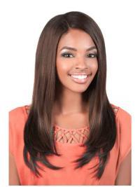 Easeful Brown Straight Long U Part Wigs
