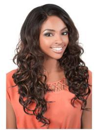Radiant Brown Wavy Long U Part Wigs