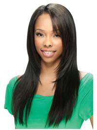 Preferential Black Straight Long U Part Wigs