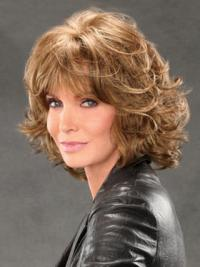 Jaclyn Smith Mid-length Shag with Spiral Curls Lace Front Human Hair Wig