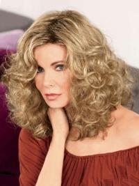 Jaclyn Smith Tender and Ladylike Mid-length Voluminous with Full Curls Lace Human Hair Wig