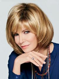 Jaclyn Smith Best-selling Charming Short Bob Lace Front Human Hair Wig with Bangs