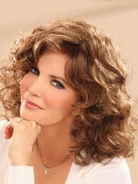 Jaclyn Smith Silky and Gorgeous Mid-length Wavy Lace Human Hair Wig 14 Inches