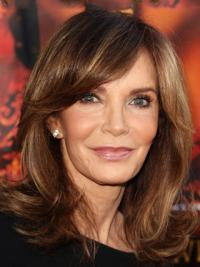 Jaclyn Smith Retro and Modern Combination Mid-length Wavy Layered Lace Front Human Hair Wig