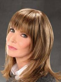 Jacklyn Smith Fairy and Modern Tease Mid-length Layered Straight Lace Front Human Hair Wig