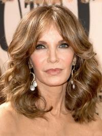 Jacklyn Smith Beguiling Shoulder-length Layered Wavy Lace Front Human Hair Wig