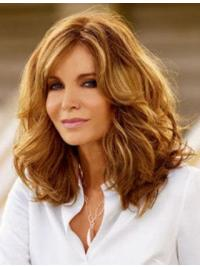 Modern Goddess Long Layered Wavy Lace Human Hair Wig 16 Inches