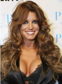 Jessica Simpson Amazing and gorgeous long layered wavy lace wig about 24 inches