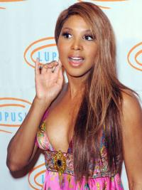 Straight Remy Human Hair Celebrity Wigs Toni Braxton Wigs