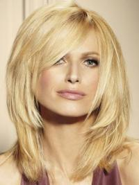 Lace Front Blonde Straight Trendy Wigs For Cancer