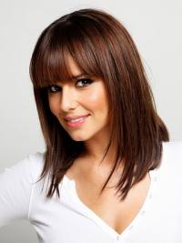 Auburn Straight Synthetic Cool Medium Wigs
