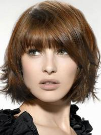 Brown Straight Synthetic Radiant Medium Wigs