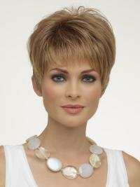 Trendy Blonde Straight Cropped Synthetic Wigs