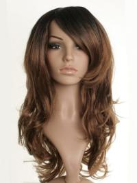 Unique Brown Wavy Long Celebrity Wigs