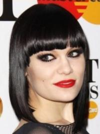 Amazing Black Straight Shoulder Length Jessie J Wigs