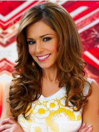 Cool Brown Curly Long Cheryl Cole Wigs