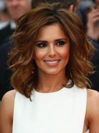 Designed Auburn Wavy Shoulder Length Cheryl Cole Wigs