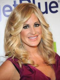 Convenient Blonde Wavy Long Kim Zolciak Wigs