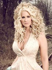 Impressive Blonde Curly Long Kim Zolciak Wigs