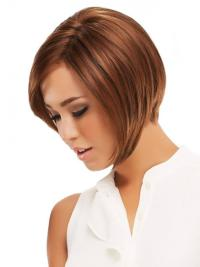 Monofilament Auburn Straight Preferential Wigs For Cancer