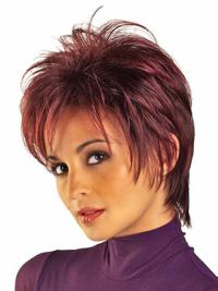 New Red Synthetic Straight Short Wigs