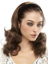 Stylish Brown Wavy Long 3/4 & Half Wigs