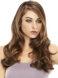 Cool Auburn Wavy Long Hair Falls & Half