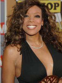 """Wendy Williams 16"""" Curly Shoulder Length Remy Human Hair"""
